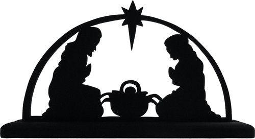 500x272 Nativity Scene Decorative Display Silhouette Great Christmas