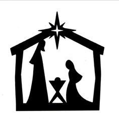 236x236 Nativity Scene Silhouette Clipart 101 Clip Art