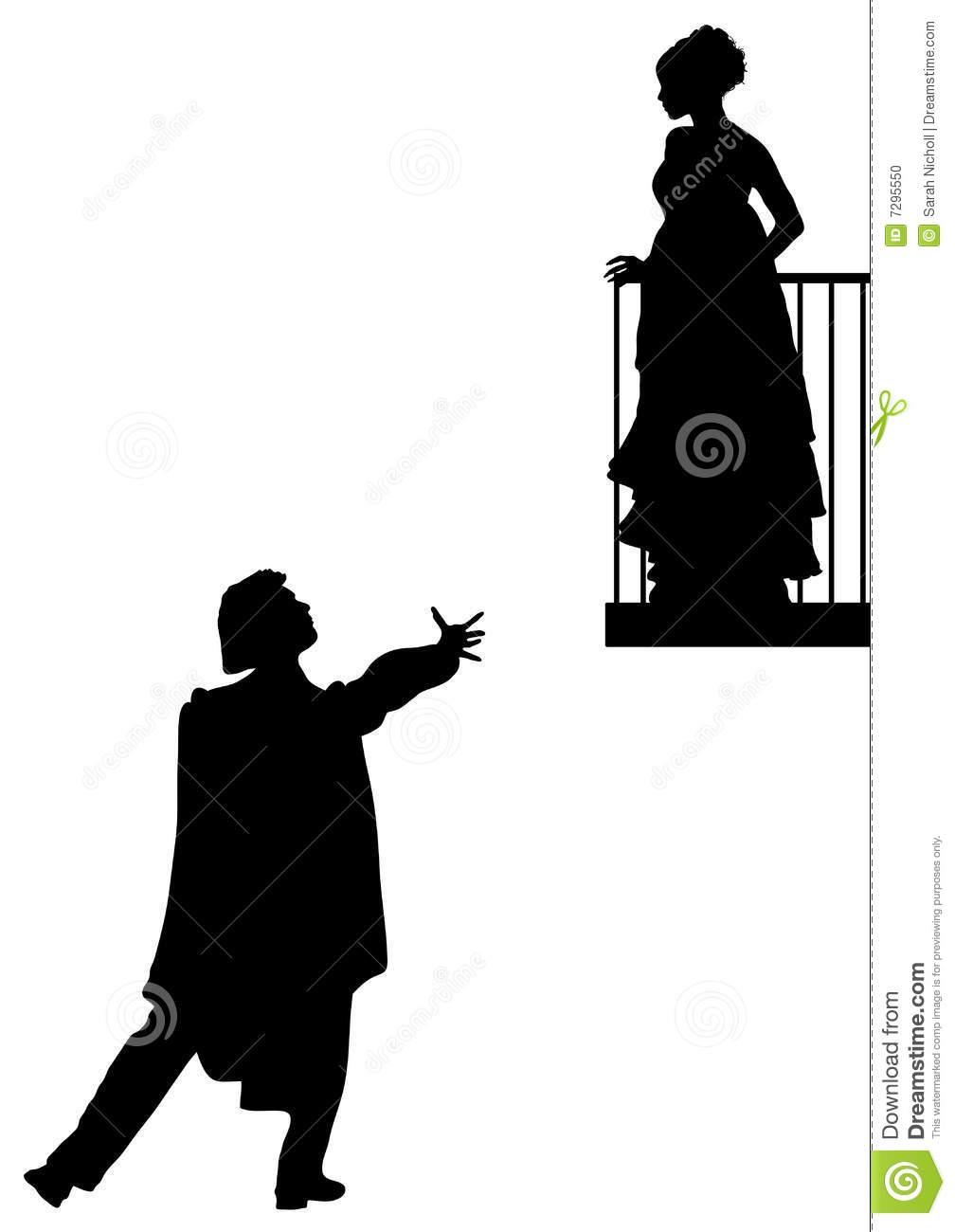 1008x1300 Romeo Juliet Balcony Scene Clipart