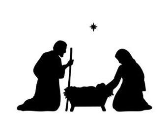340x270 Christmas Scene Stencil Svg Dxf File Instant Download Silhouette