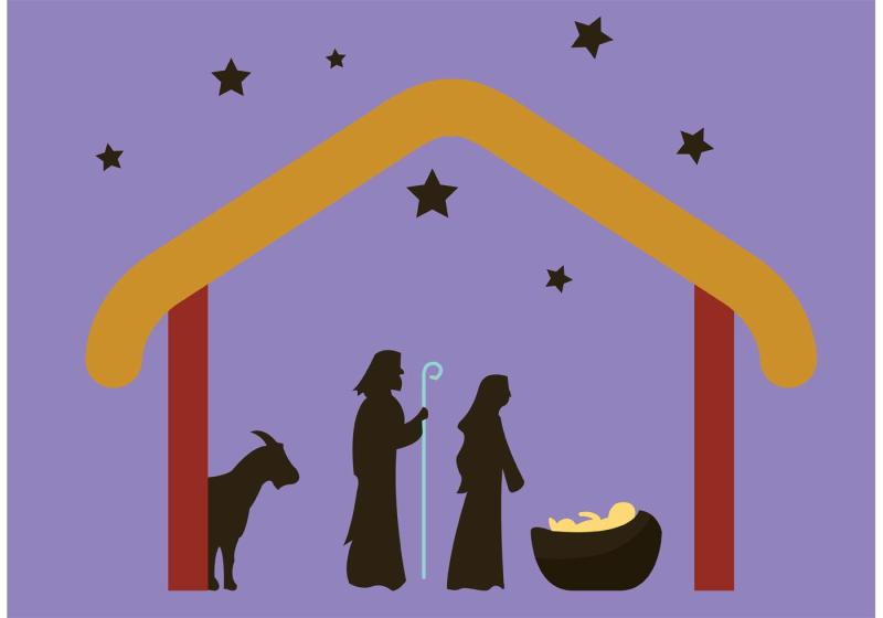 800x560 Nativity Scene Clipart Silhouette