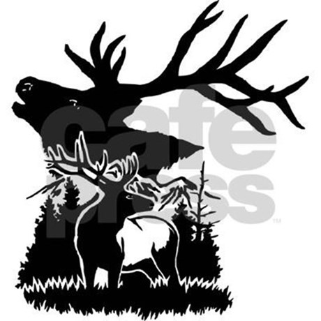 460x460 Elk Silhouette Scene Tote Bag By Lickitystitch