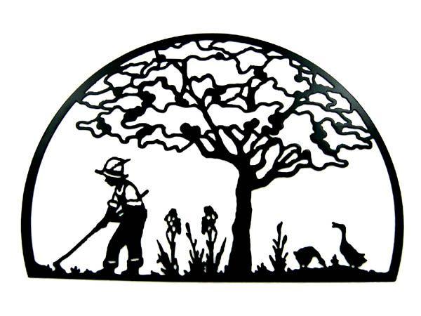 600x450 Garden Clipart Silhouette