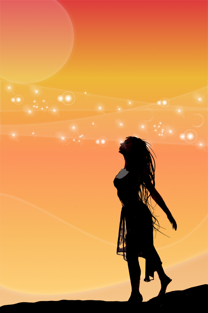 866x1300 Woman Silhouette Digital Art Manipulation By Benjimacy