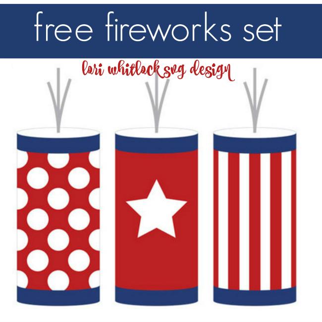 650x650 Free July 4th Firecrackers Silhouette Studio Cut File From Lori