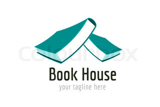 320x213 Vector Book House Template Logo Icon. Back To School. Education