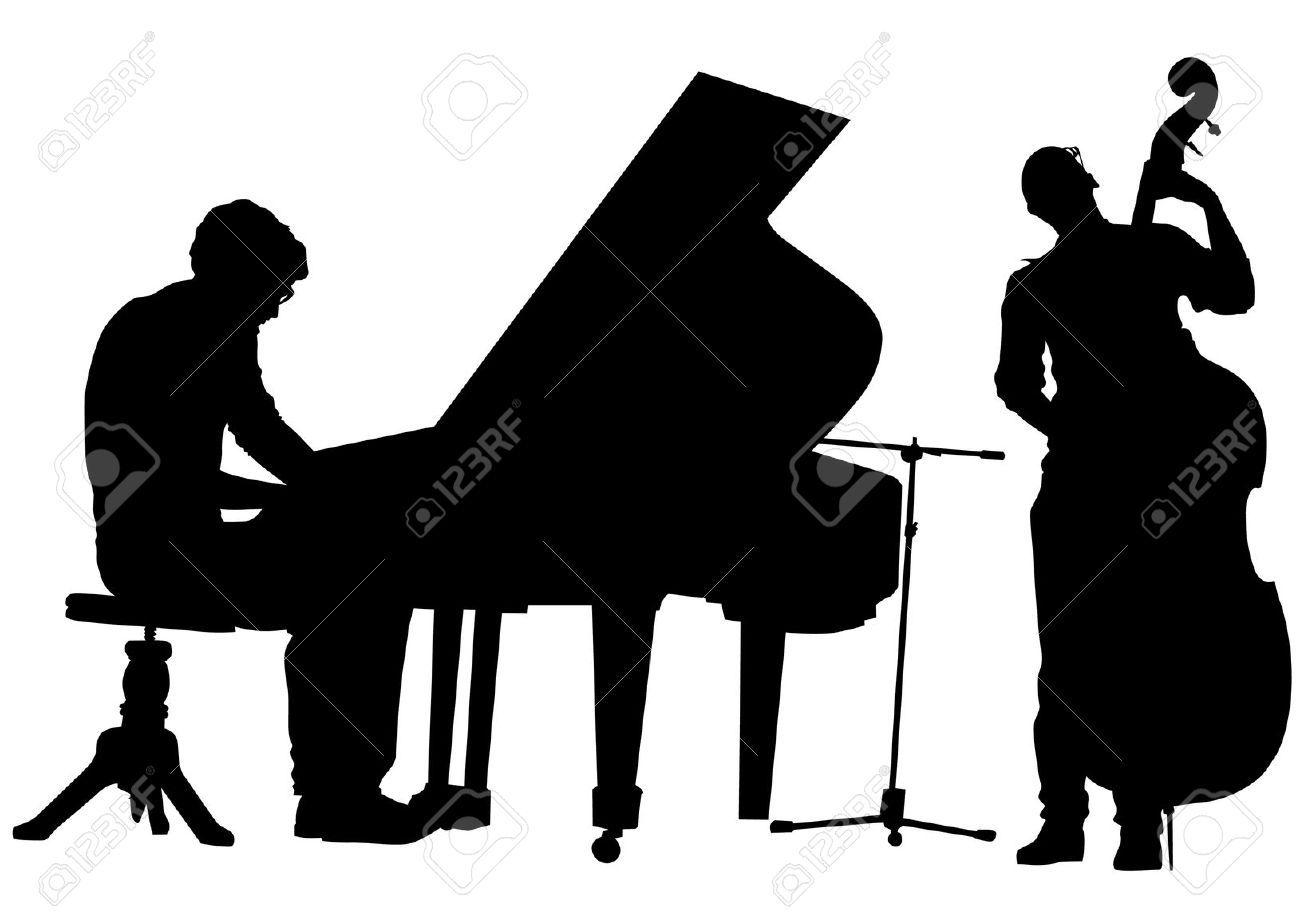 1300x919 silhouette jazz guitar player