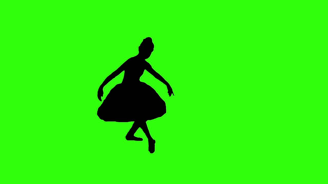 1280x720 Ballet Dancer Silhouette Green Screen Effect Free