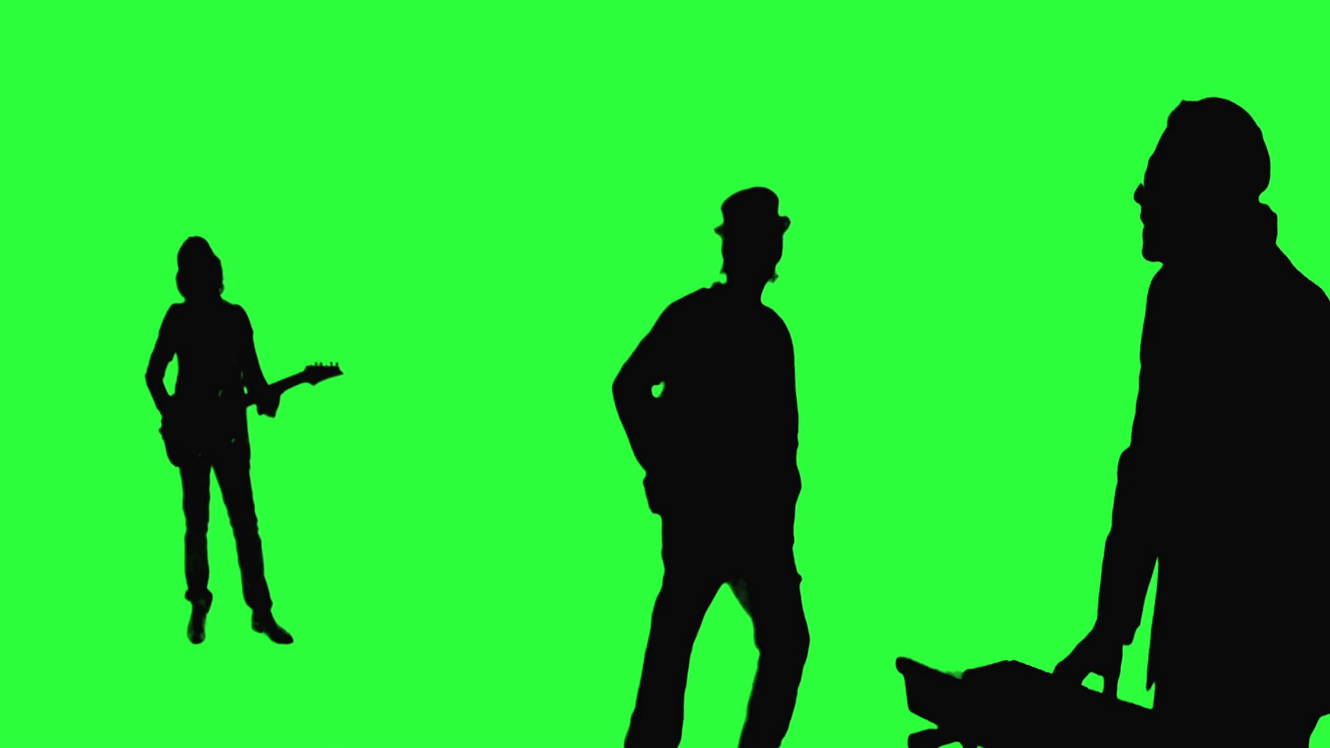 1920x1080 Cool rock band performing on the Green Screen Motion Background