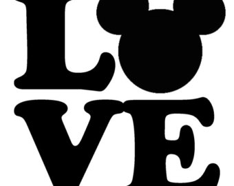 340x270 Mickey Love Svg, Peace Love Silhouette, Mickey Love Mouse Ears