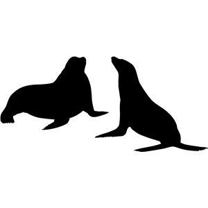 300x300 Sea Lion Silhouettes Lion Silhouette, Silhouette Design