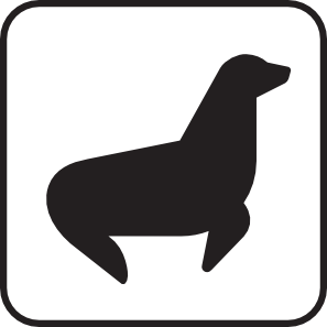 297x297 Seal Viewing White Clip Art