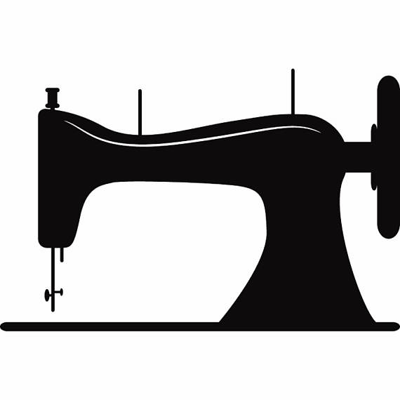 570x570 Sewing Machine Silhouette