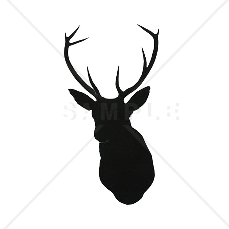 750x750 Printable Deer Head Pattern Deer Printable Silhouettes