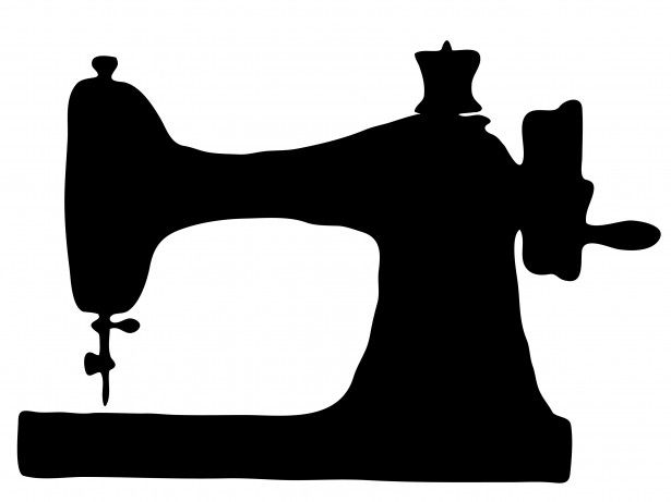 615x461 Public Domain! Vintage Sewing Machine Clipart Stencils