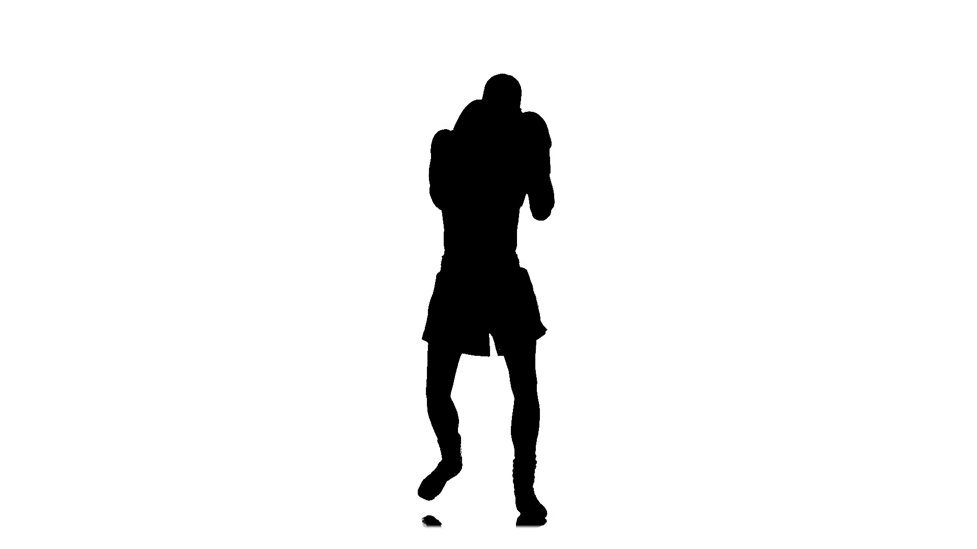 1920x1080 Shadow Boxing. Silhouette In Slow Motion Stock Video Footage
