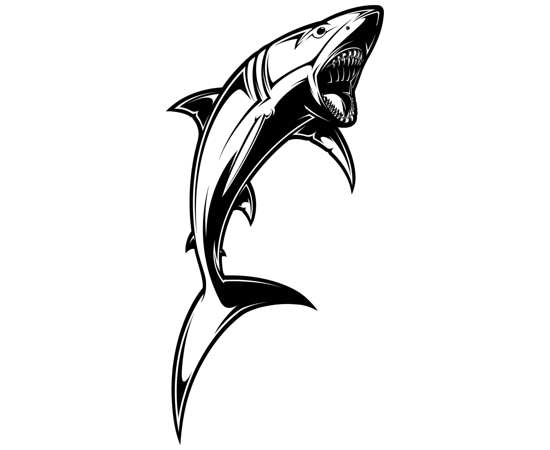3000x2455 Shark Svg, Shark Clipart, Shark Silhouette, Silhouette, Svg