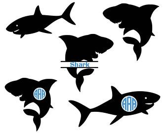 340x270 Shark Svg Shark Clipart Shark Silhouette Svg Graphics