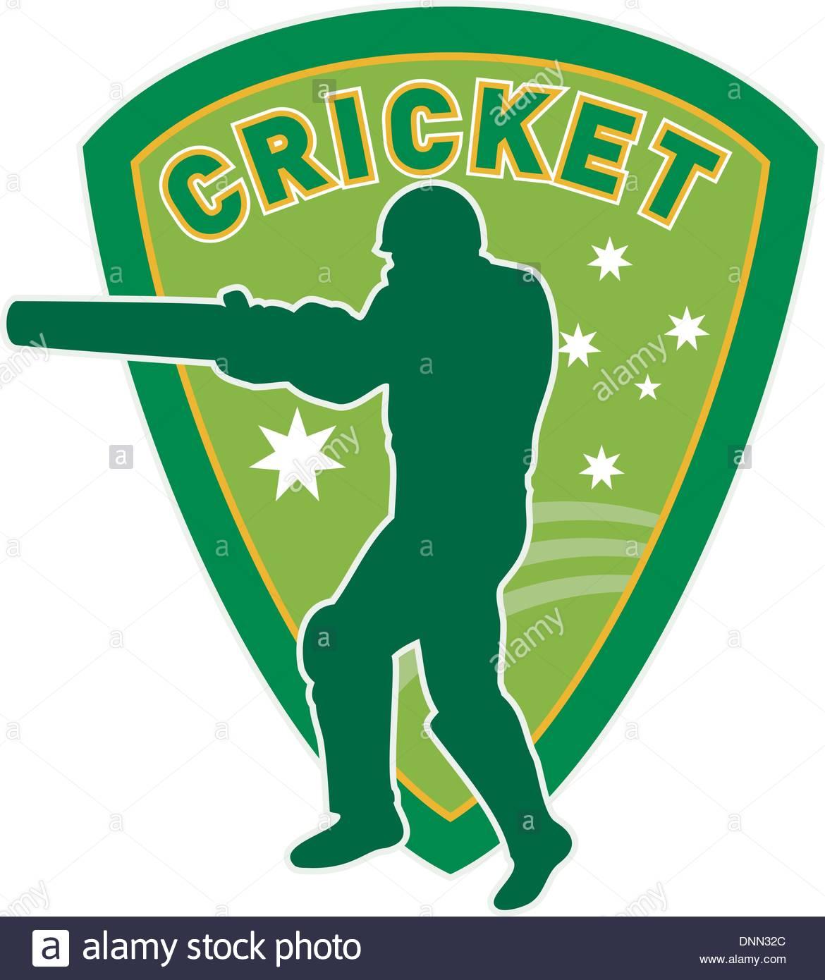 1170x1390 Illustration Of A Cricket Sports Player Batsman Silhouette Batting