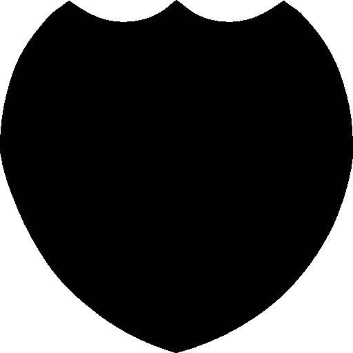 512x512 Black Shield Silhouette