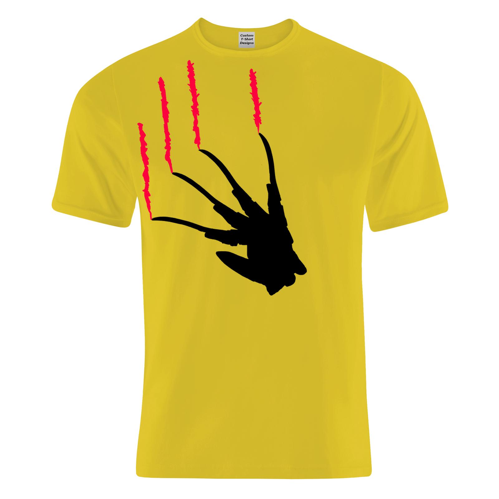 1600x1600 Freddy Glove Silhouette Elm Street Cotton T Shirt