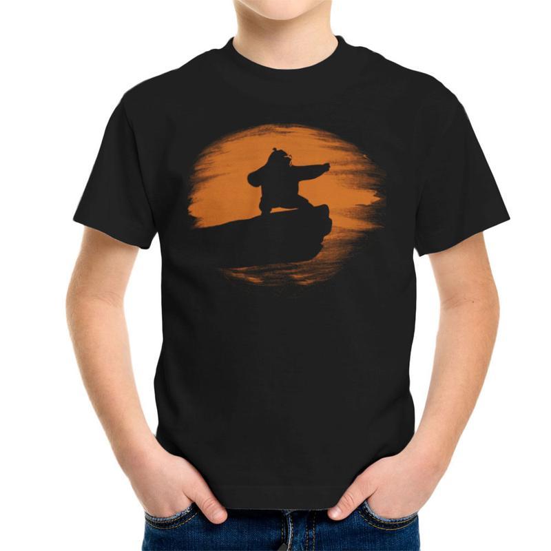 800x800 Kung Fu Panda Silhouette Sunset Kid's T Shirt Cloud City 7