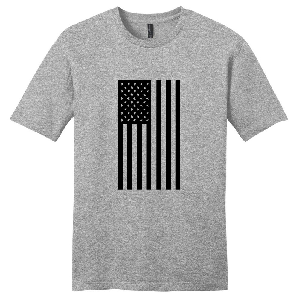 1020x1020 Light Heathered Gray American Flag Silhouette T Shirt Sweetums Shirt