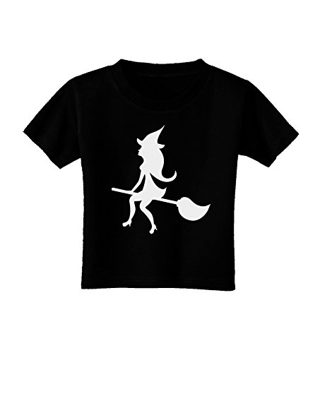 453x578 Cute Witch On Broom Silhouette Halloween Toddler T