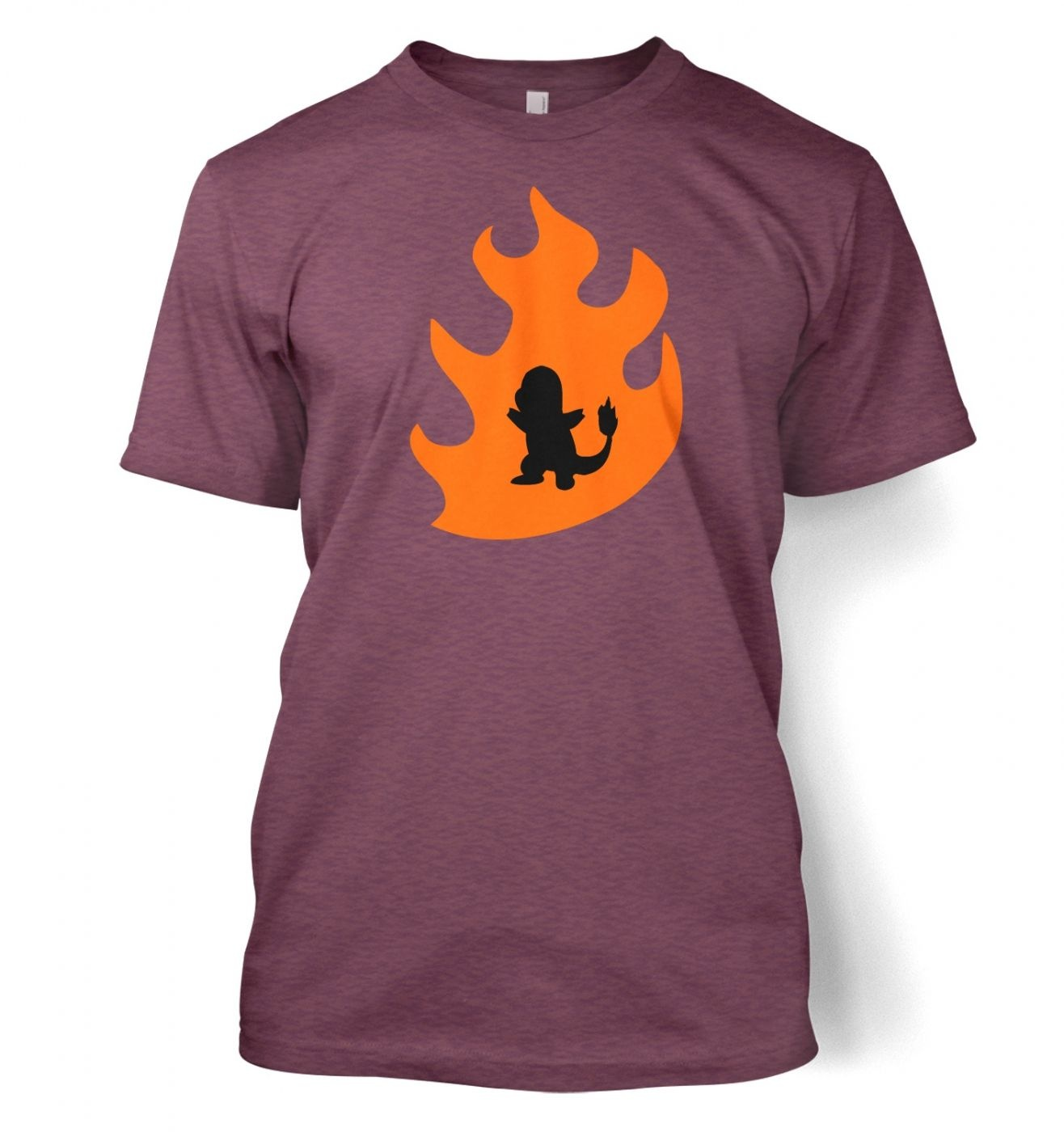 1316x1400 Orange Charmander Silhouette T Shirt