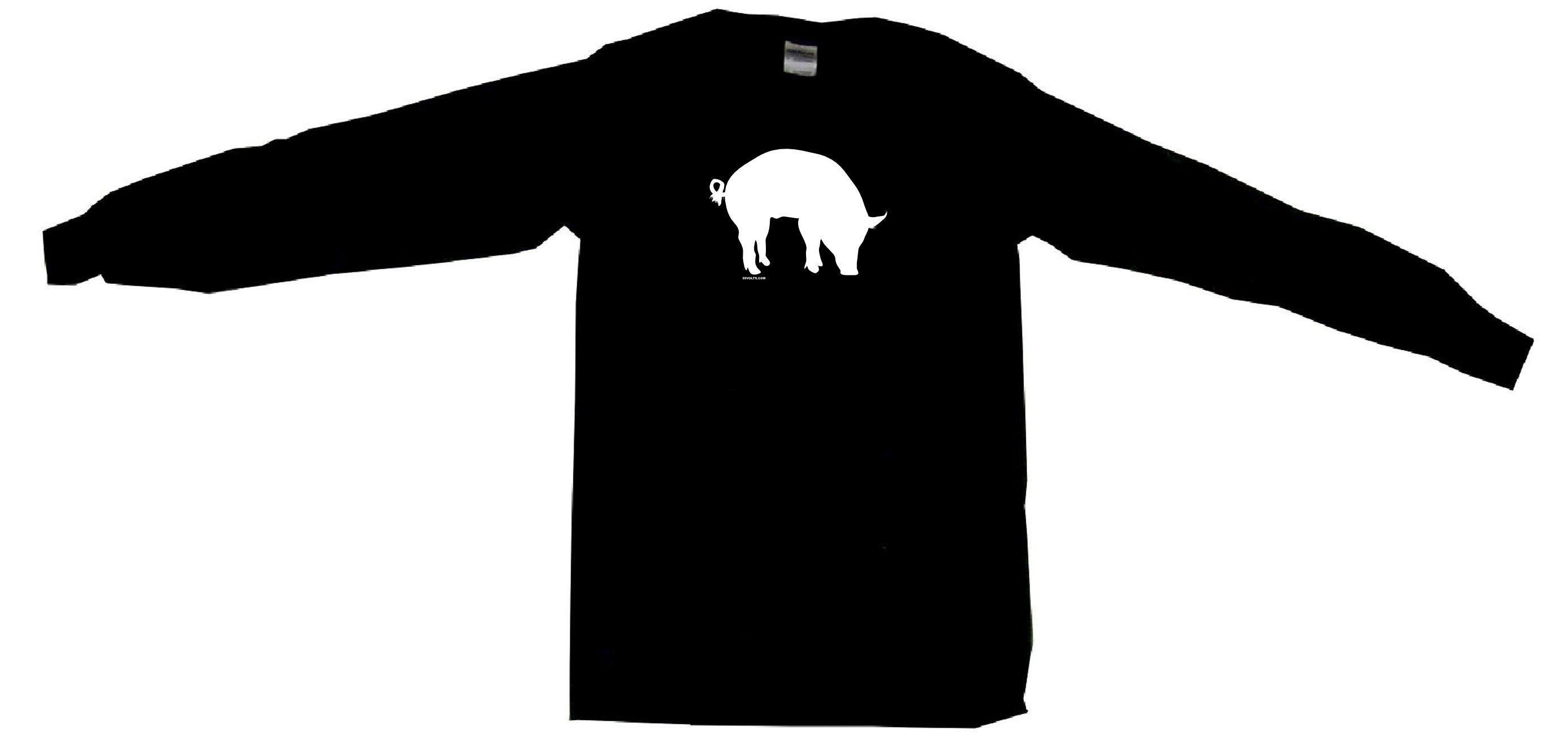 2772x1300 Pig Hog Silhouette Logo Mens Tee Shirt Pick Size Color Small Thru