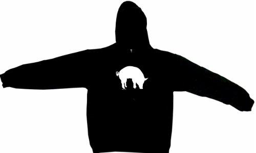 500x300 Pig Silhouette Bbq Style Logo Men's Hoodie Sweat Shirt Xxxl (3xl