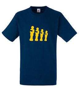 257x300 Table Football Leeds Silhouette Yellow Design Men's Navy Blue T