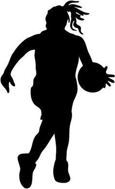 236x388 Jump Shot Girls Basketball Player Sticker