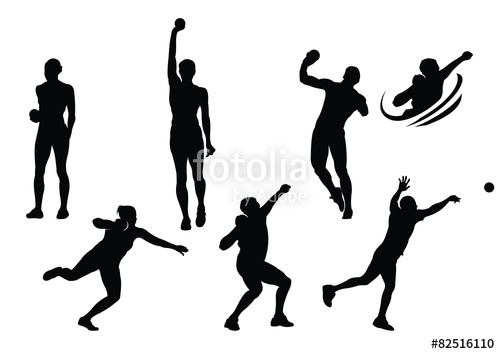 500x354 Shot Put Sport Silhouette Stock Image And Royalty Free Vector
