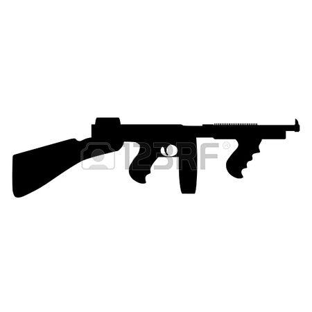 450x450 Gun Shot Clipart Tommy Gun