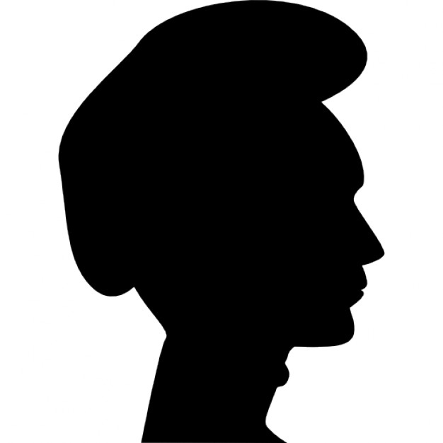 626x626 Man Head With A Hat Side View Silhouette Icons Free Download