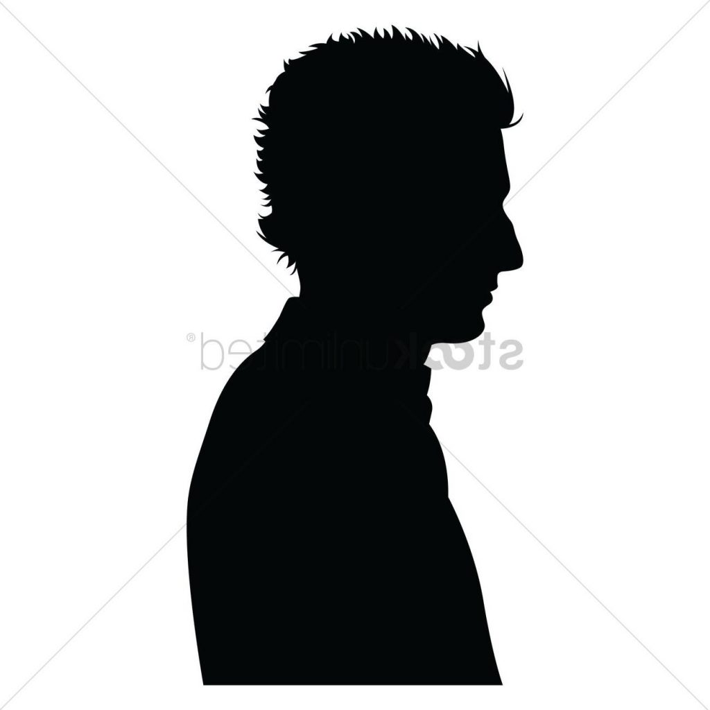 1024x1024 Best Free Side View Of Silhouette Drawing