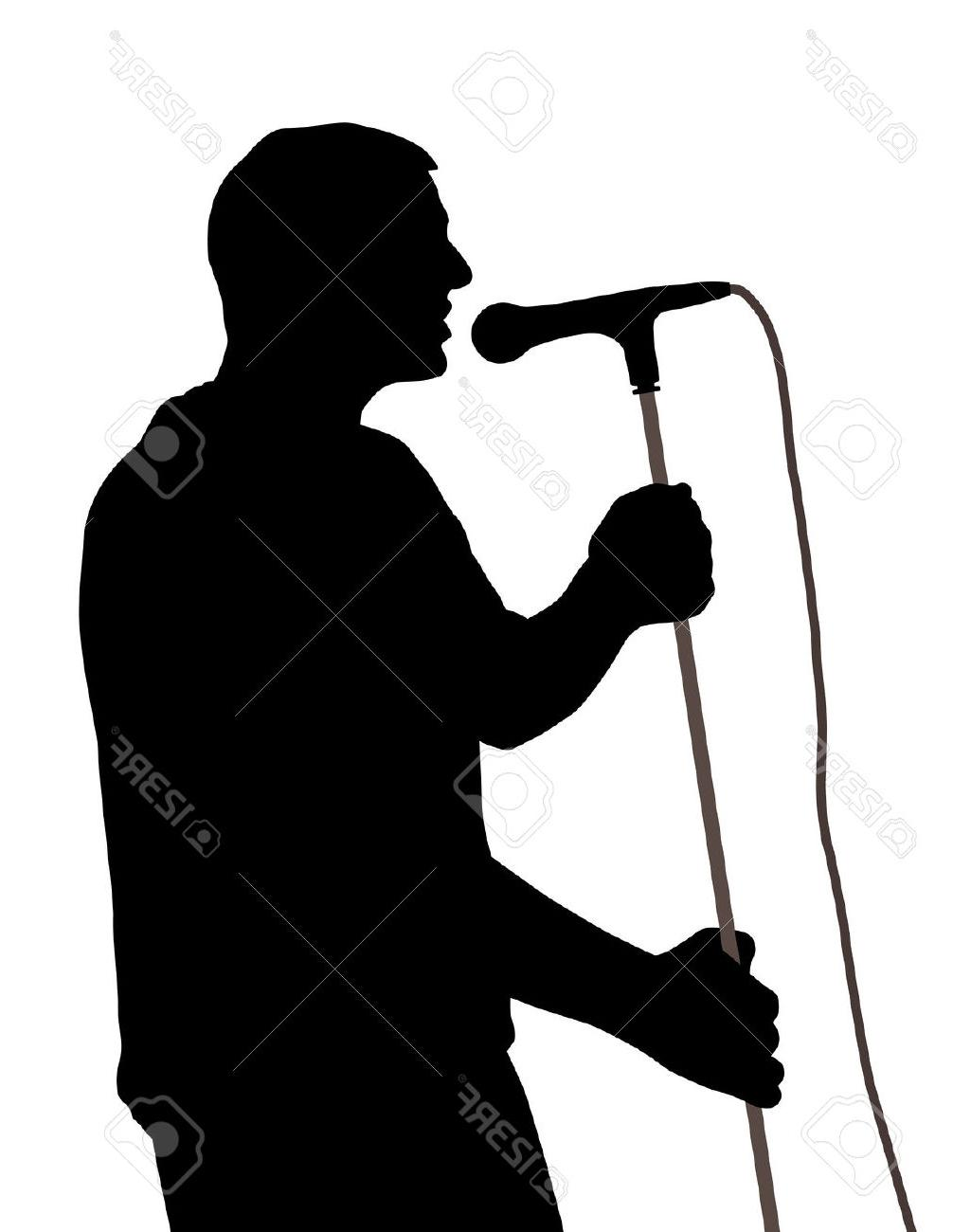 1006x1300 Top Singer Clipart Silhouette Cdr