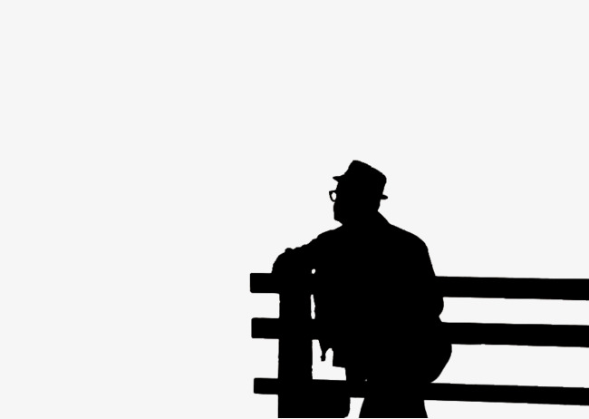 650x462 Silhouette Of Man Sitting, Sitting Elderly, People Sitting, Old