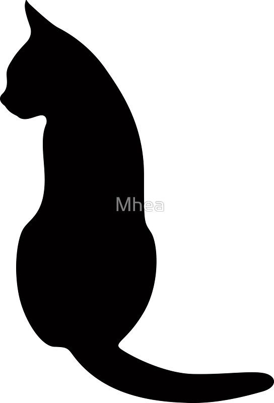 544x800 Cat Sitting Down, Silhouette Stix Cat Sitting
