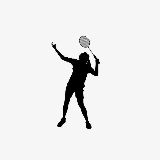 650x650 Woman Playing Badminton,sketch, Sports, Sketch, Silhouette Figures