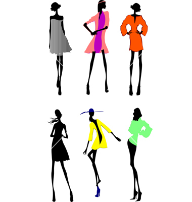 380x400 Modern Fashion Sketches Fashion Girls Designer Silhouette Sketch