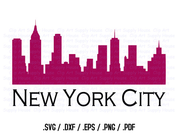 570x428 New York City Skyline Clipart Design, Use With Silhouette