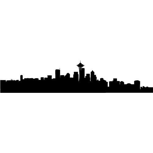 501x501 Seattle Skyline Silhouette