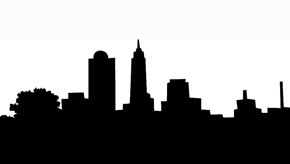 1000x567 Skyline Silhouette Clipart