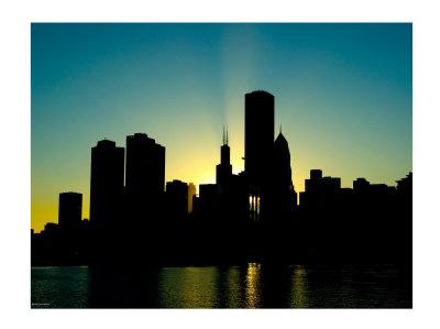 400x299 Chicago Skyline Silhouette Free