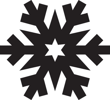 460x417 Simple Snowflake Silhouette Scrapheap