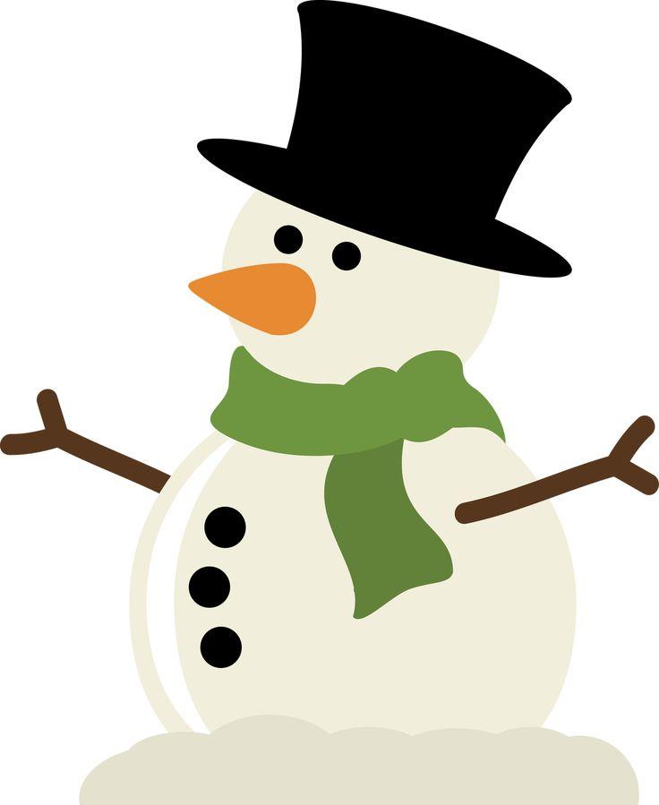Silhouette Snowman