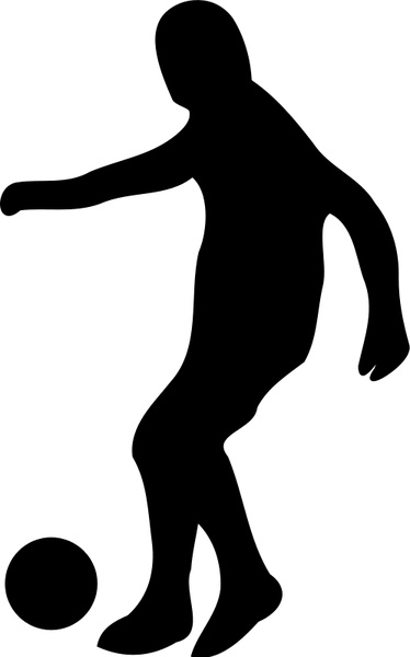 374x600 Soccer Player Silhouette Free Vector In Open Office Drawing Svg