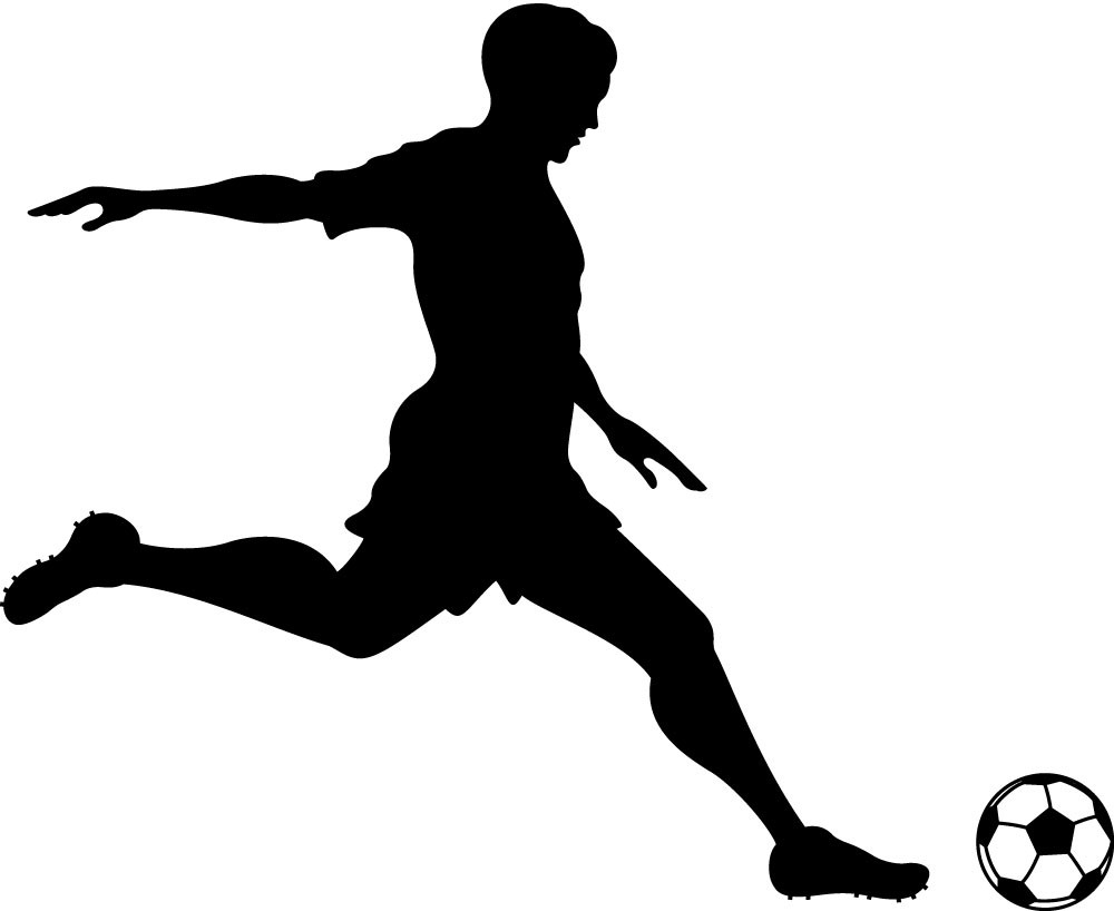 silhouette soccer ball at getdrawings com free for personal use rh getdrawings com soccer player clip art silhouettes soccer player clipart black and white